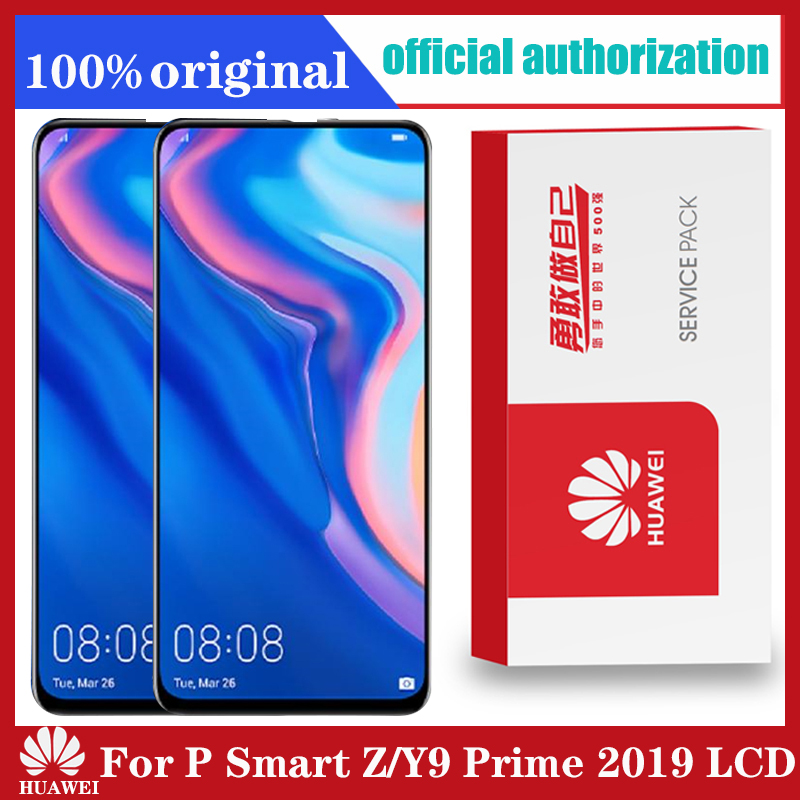 Original 6,59 zoll Für Huawei Y9 Prime 2019/P Smart Z LCD Display STK-LX1 Touchscreen Digitizer Montage teile