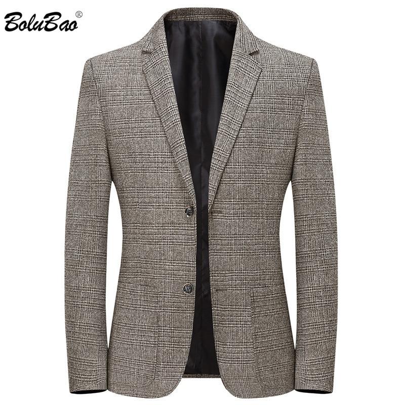 BOLUBAO Brand Men Plaid Blazers Spring Autumn Men's Fashion Comfortable Suit Coats Simple Business Blazers Coat Male