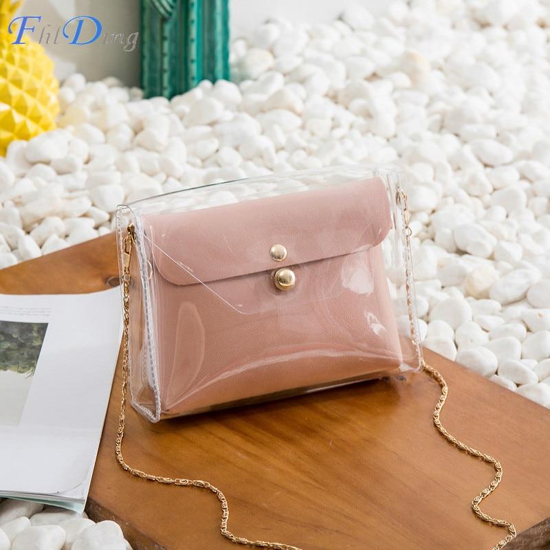 Women Transparent Shoulder Bags Fashion Mini Bags Purse Handbags Crossbody Bag Clutch Phone Purse Bag Borsa Feminina Sac A Main