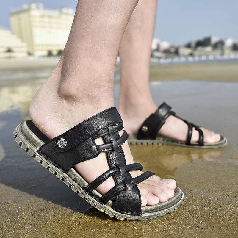 VOGUE แฟชั่นผู้ชายรองเท้าสบายๆรองเท้าแตะฤดูร้อนกลางแจ้งรองเท้าแตะผู้ใหญ่รองเท้าชายหาดฤดูร้อน Isherman รองเท้าแตะ