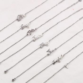 BTS Stainless Steel Simple Letter Bracelet