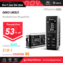 DEKO LRE521 Handheld Laser Distance Meter Mini Laser Rangefinder Laser Tape Range Finder Diastimeter Measure 40M 60M 80M 100M