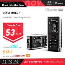 Deko LRE521 Handheld Laser Afstand Meter Mini Laser Afstandsmeter Laser Tape Afstandsmeter Diastimeter Meten 40M 60M 80M 100M