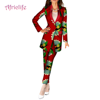 Spring Autumn Clothing 11.11 On Sale Casual Women Blazer Suits African Wax Cotton Fashion Clothing WY6083