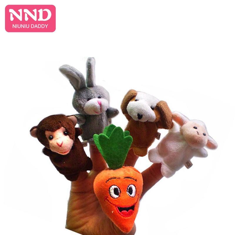 5 Juegos al por mayor 5 unids/set títeres de dedos de cuento de hadas, la zanahoria gigante (versión de conejo)