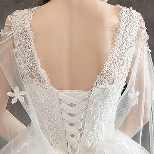 Image 5 - Moda luz vestido de casamento 2020 novo luxo longo trem real estrela francesa noiva super fada floresta sonho casamento vestido fantasia fio