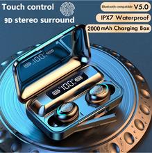 TWS słuchawki etui z funkcją ładowania słuchawki bezprzewodowe kompatybilne z Bluetooth 9D Stereo sportowe wodoodporne słuchawki douszne słuchawki z mikrofonem tanie tanio oeny Zaczepiane na uchu Dynamiczny CN (pochodzenie) wireless Do kafejki internetowej Słuchawki do monitora Do gier wideo