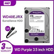 WD 퍼플 4 테라바이트 HDD 감시 하드 디스크 드라이브 5400 RPM 클래스 SATA 6 기가바이트/초 64MB 캐시 3.5 인치 WD40EJRX 카메라 ip