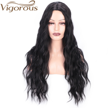 Vigorous Synthetic Wig Long Wavy Black Wig for Women 20inch