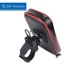 Motorcycle Phone Holder Bicycle Stand Adjustable Support for iPhone X for Samsung GPS Bike Soporte w/ Upgrade New Waterproof Bag