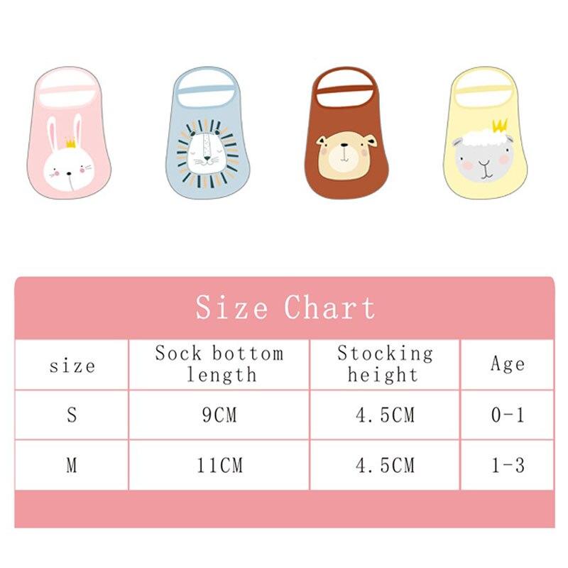 1Pair Baby Foot Socks Cartoon Printed Infant Floor Socks Combed Cotton Non-slip Baby Low Socks With Tie Baby Toddler Floor Socks