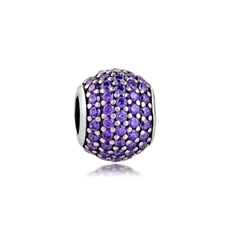 Sterling SIlver /& Purple Crystal Bead