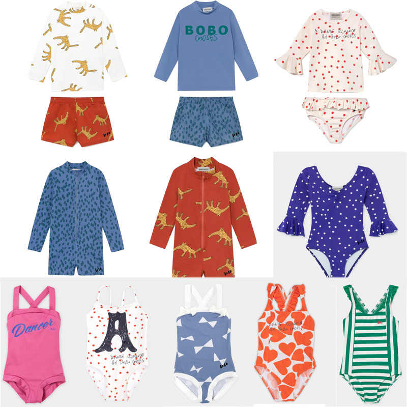 2020 BC BRAND New Spring Summer Girls BOYS One Pieces SWIMWEAR Kids Print Beach Bikini Baby Child Fashion Swimsuits