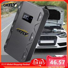 Gkfly High Power 20000Mah Auto Jump Starter 12V 1500A Draagbare Uitgangspunt Apparaat Power Bank Autolader Voor Auto batterij Booster Led