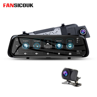 FANSICOUK 4G Android ADAS Car DVR 10'' Mirror Camera GPS FHD 1080P WiFi Rearview Mirror Video Recorder Dash Cam F800