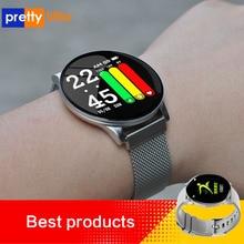 W8 sport inteligentny zegarek 1.3 Cal w pełni dotykowy ekran mężczyźni kobiety pogoda IP67 wodoodporny SmartWatch dla androida IOS zegarki Fitness