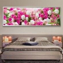 2019top popular 5d diamond painting full square /round flower diy diamond embroidery cross stitch flower livingroom wall sticker