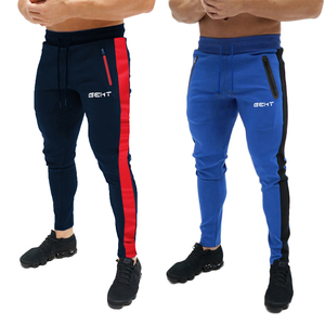 Men Sports Running Pants Solid Color Football Soccer pant Training sport Pants XZ96