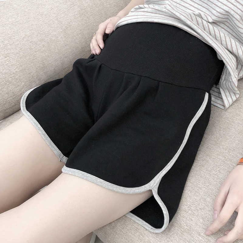 חדש קיץ יולדות מכנסיים קצרים Loose פנאי ספורט מכנסיים נשים בהריון הרמת בטן כותנה Loose מקרית מכנסיים קצרים