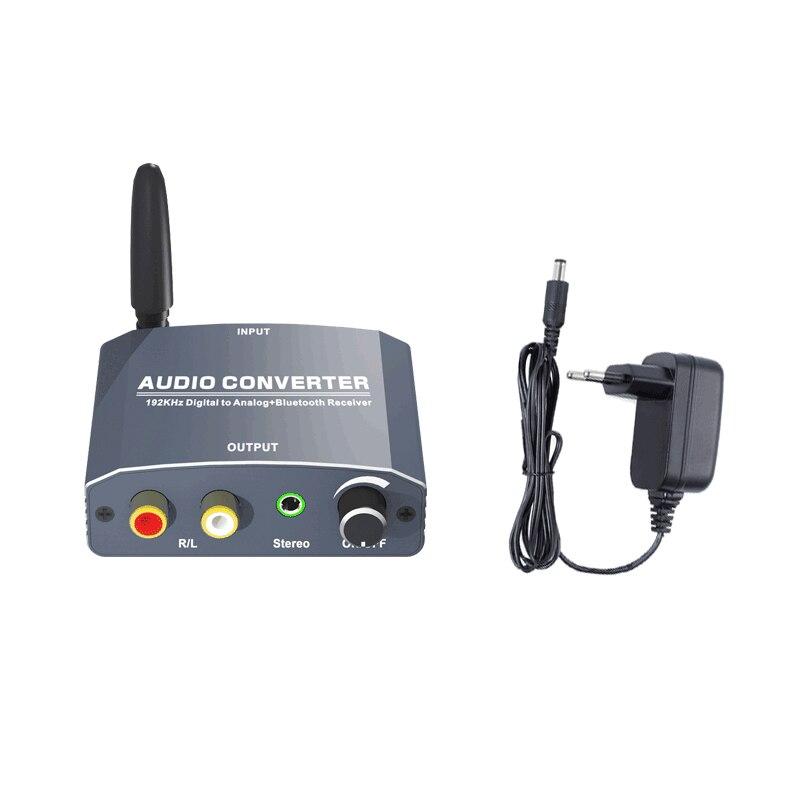 192 Khz Bluethooth Dac Digitaal Naar Analoog Audio Converter Met Bluetooth Ontvanger Ondersteuning 5.1CH Dts Met Volume Control Voor Telefoon 6