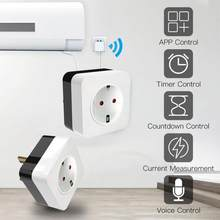 Inteligente wifi ar condicionado companheiro infravermelho inteligente interruptor de soquete controle voz trabalho com o google casa alexa eua/ue plug
