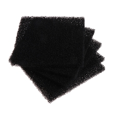 5Pcs Universal Black Activated Carbon Foam Sponge Air Filter Impregnated Sheet Pad