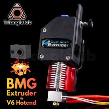 trianglelab MK8 Bowden Extruder BMG extruder + V6 HOTEND Dual Drive Extruder for 3d printer High performance for  I3 3D printer 3d printer parts cyclops 2 in 1 out 2 colors hotend 0 4 1 75mm 12v 24v fan bowden with titan bulldog extruder multi color nozzle