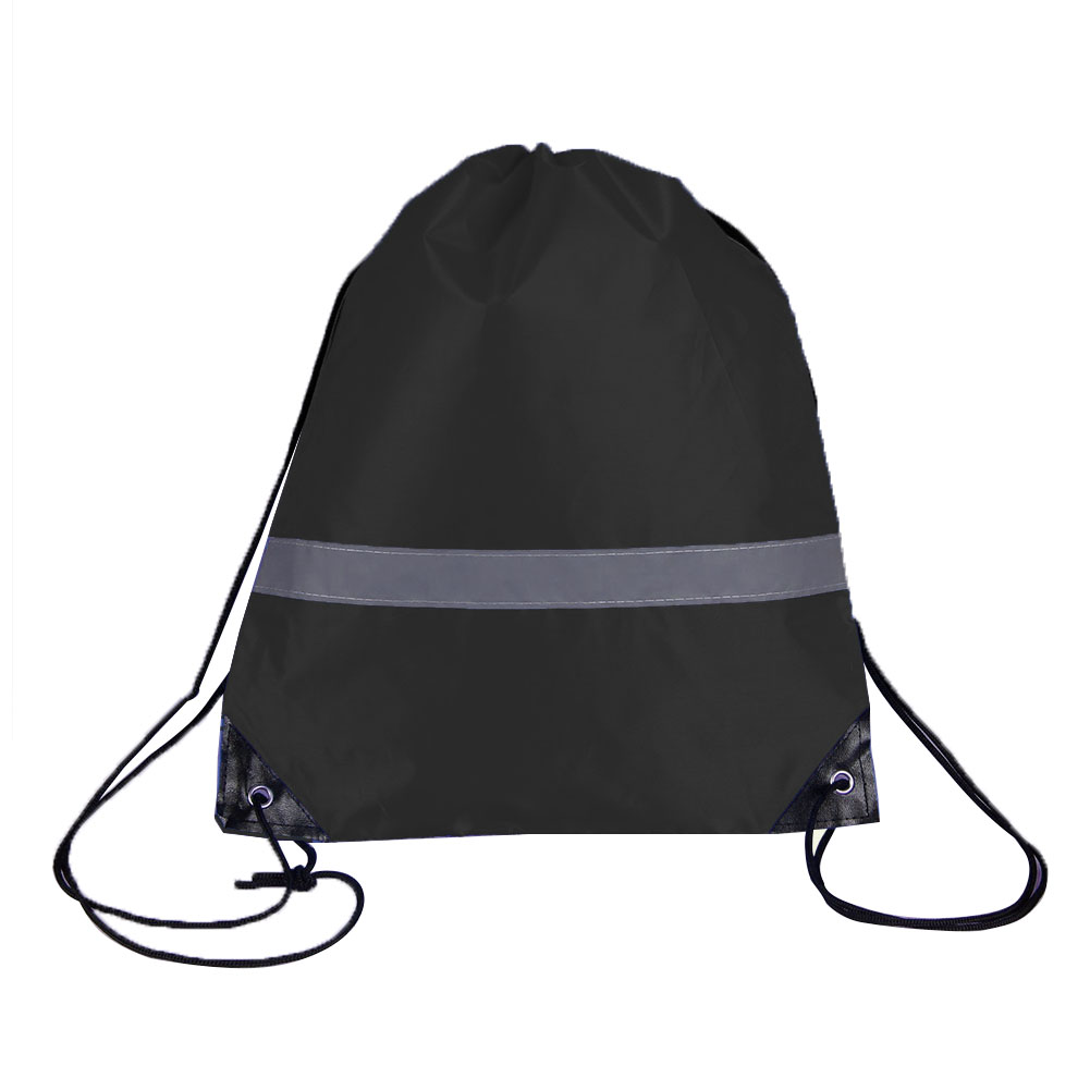 10 Pcs Camping Travel Drawstring Bags Gift Outdoor Reflective Strap Sport Walking Gym Pouch Students School Storage