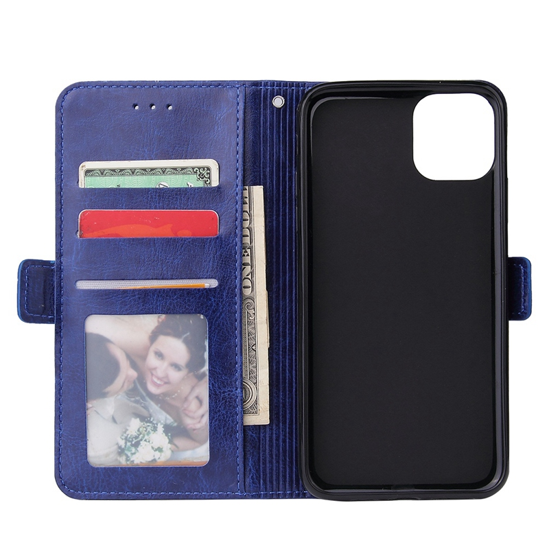 Top Deals Male Phone Wallet for IPhone 11 Stand Zip Cover for Apple 6 6S 7 8 Plus Multi-Card Slot Capa Zipper DP27H image
