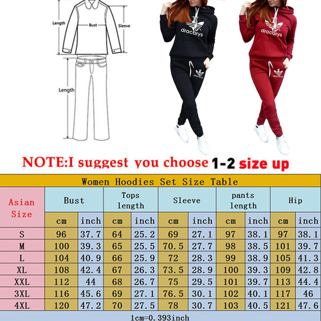 2019 Autumn Winter 2 Piece Set Women Hoodie Pants Printed Tracksuit Pullover Sweatshirt Trousers With Pockets Tracksuit Suits 5