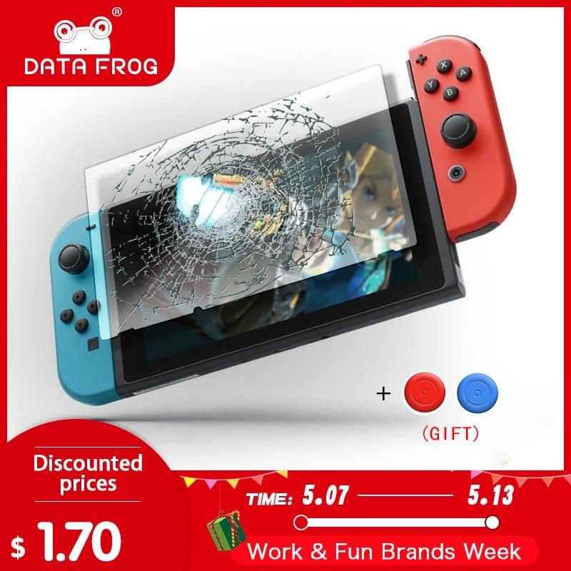 Data Frog Premium Tempered Glass Screen Protector For Nintendo Switch NS Screen Protector For Nintend Switch Lite Accessories(China)