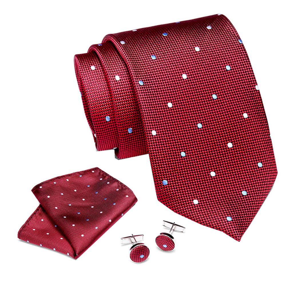 Wedding Jacquard Woven 7.5 Cm 100% Silk Mens Pink Necktie   Handkerchief Cuffink Set Business Flomal Dress Accessories Neckties