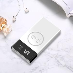 Image 3 - 20000mAh QC 3.0 sans fil chargeur batterie externe coque type c USB PD Ports de Charge rapide affichage numérique bricolage Powerbank Shell 6*18650