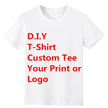 DIY Custom T-Shirts Summer Short Sleeve O-neck Tee