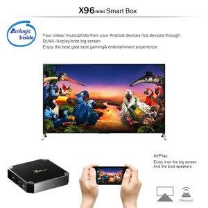 Image 5 - X96 صندوق تليفزيون صغير أندرويد 7.1 مربع التلفزيون الذكية 2GB 16GB / 1GB 8GB Amlogic S905W رباعية النواة 2.4GHz واي فاي مجموعة صندوق X96mini