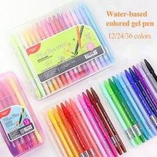 Monami Wasser-based Gel Stifte 12/24/36 Farben Hand Konto Haken Linie Stifte Schreiben/Graffiti/Anmerkungen Canetas Schreibwaren plus Stift 3000