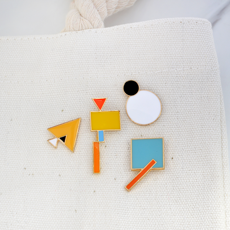 Pins and brooches Tangram jigsaw puzzle pins hard enamel lapel pin brooches badges Backpack bag hat jewelry in Brooches from Jewelry Accessories