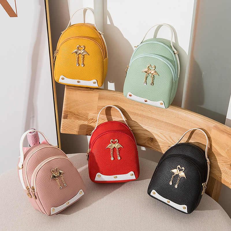 Mini mochila 2019 nueva moda Cisne encanto mujer para bolsa creativa Casual variedad pequeña mochila