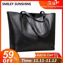 Женская сумка из натуральной кожи, большая сумка на плечо для женщин, большая черная роскошная женская сумка от известного бренда, кожаная ручная сумка 2020
