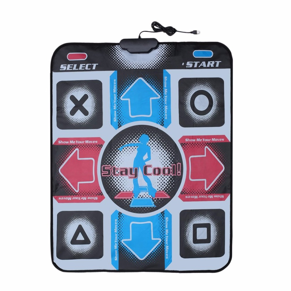 Non Slip Durable Wear resistant Dancing Step Dance Mat Pad Pads Dancer Blanket to PC with USB for Bodybuilding Fitness|Yuga Mats| |  - title=