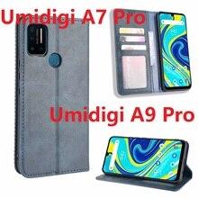 ل Umidigi A9 برو حافظة كتاب المغناطيسي حامل بطاقة الوجه واقية Umidigi A7 برو محفظة أغطية جلد