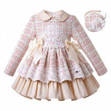 Pettigirl Neue Spitze Winter Mädchen Kleider Flauschigen Prinzessin Kleid Mädchen Elegante Tweed Geburtstag Kinder Kleidung Boutique