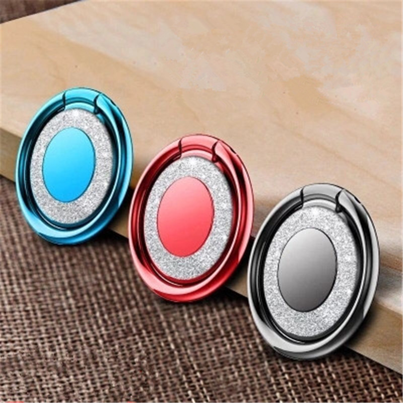Women Finger Phone Ring Holder For Iphone Samsung Xiaomi Mi8 Bright Crystal 360 Degree Universal Metal Magnetic Holder Stand