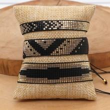 Go2boho Miyuki Woven Bracelets For Women Pulseira Handmade Jewelry Gift Adjustable Jewellery Mexican Fashion Pattern Bracelet