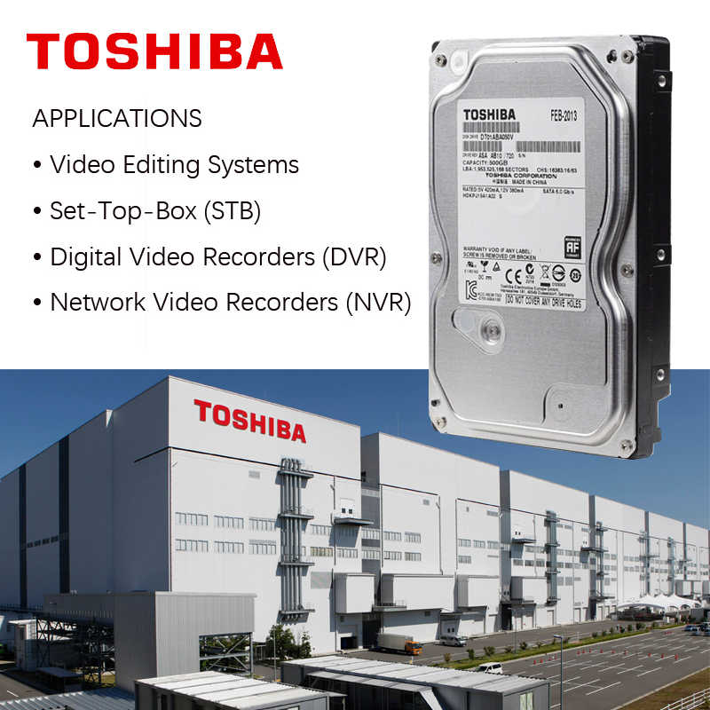 """東芝 500 ギガバイト監視内蔵ハードディスクドライブ 3.5 """"DVR NVR CCTV ハードドライブのディスク HDD HD SATA 3 5700RPM 32 メートル 3.5 """"ハードディスク"""