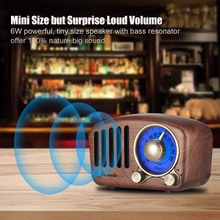 Vintage Radio Retro Bluetooth Speaker - Walnut Wooden Fm Radio, Strong Bass Enhancement, Loud Volume, Bluetooth 4.2 Aux Tf Car(China)