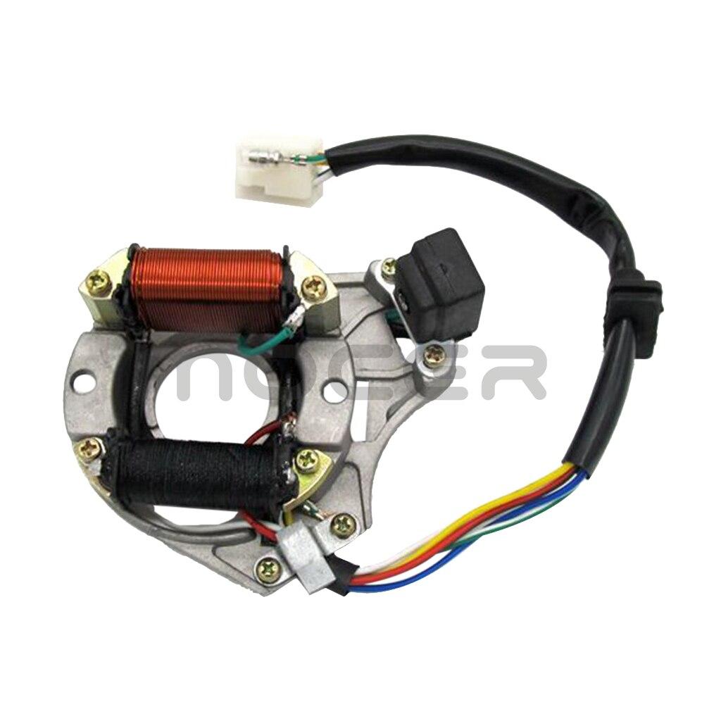 Otomobiller ve Motosikletler'ten Motosiklet Elektronik Aksesuarları'de Yeni yüksek performanslı manyetolu stator bobini için LF100 DY100 H100 LX100 Kazuma Quad ATV title=