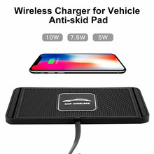 Car Wireless Charger for iPhone 8 Plus X XR XS Max 2in1 Wireless Charger Car Silicone Pad Phone Dash Mount with GPS Holder(China)