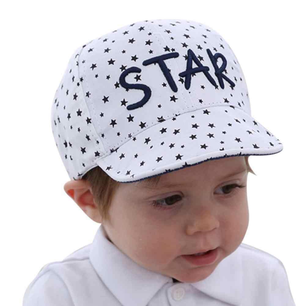 Del Bambino di modo Della Ragazza del Ragazzo star Ricamo Traspirante Berretto Da Baseball Del Cappello di Snapback Della Protezione di Sport