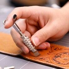 Новейший Регулируемый шарнирный нож для резьбы по коже Делюкс, лезвие, резак, головка, набор инструментов ручной работы, инструмент для коже...